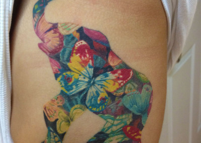 Elephant Full Color Tattoo